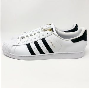 NEW Mens Adidas White Superstar Sneakers 20